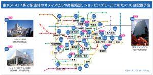 2月中にCocoDeskの設置場所を東京メトロの駅を中心に63台(室)まで増やす(公式ページより)